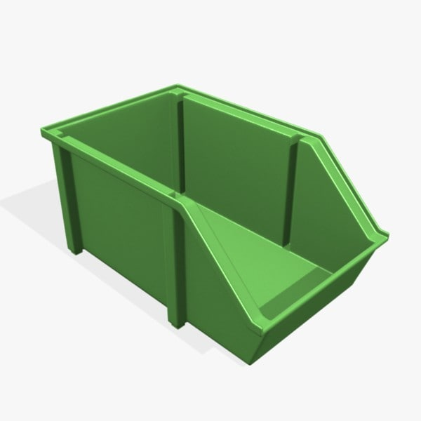 3d model stackable parts bin