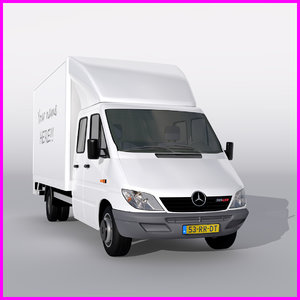 mercedes sprinter 3d obj