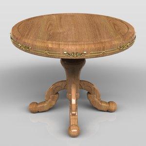 3d model royal table