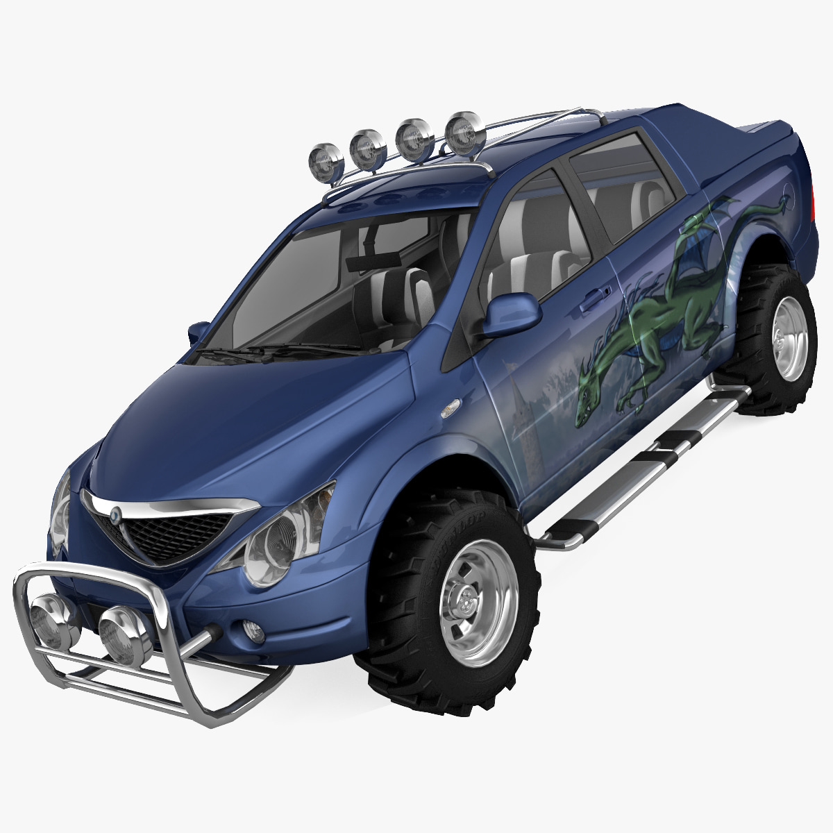 3ds ssangyong actyon offroad