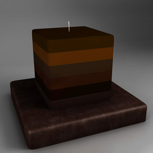 candle : holder 3d 3ds