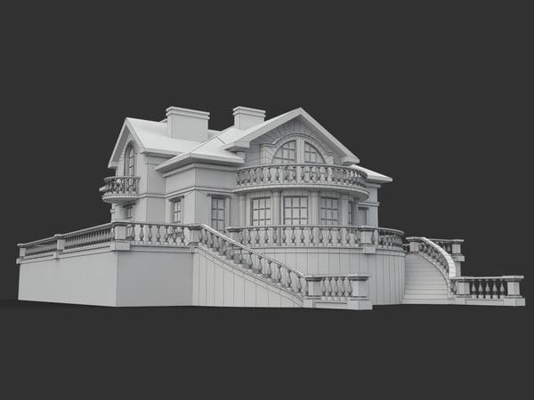 building villa 3d model