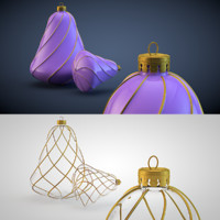christmas decoration c4d