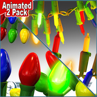 3d model 2 pack christmas lights
