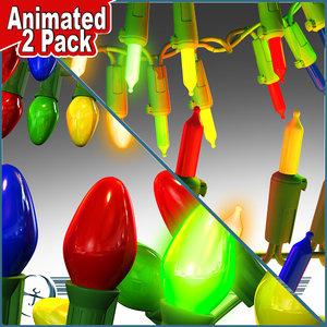 3d model 2 pack christmas lights
