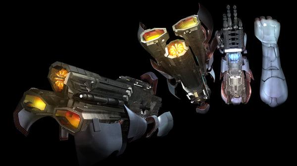 3d cyborg arm