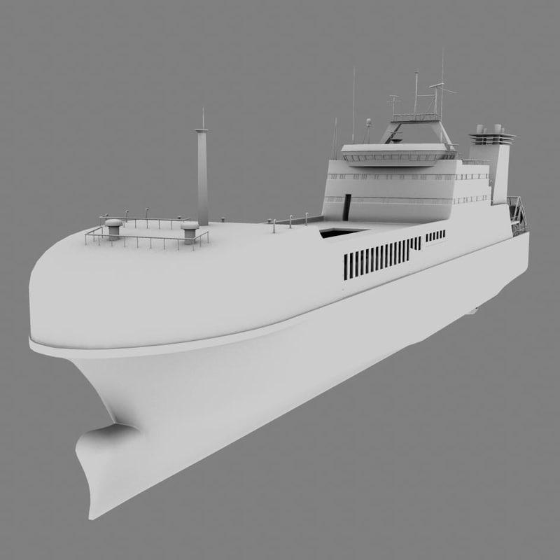 tanker ship 3d obj