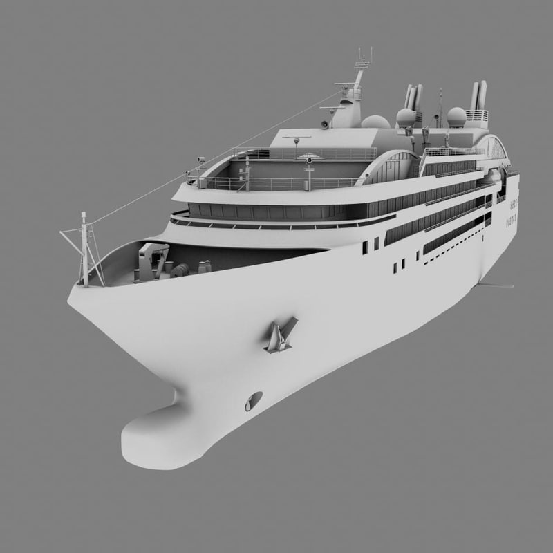 3d model arctic cruise ship le