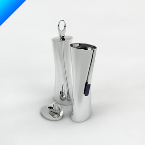 3d chiringuito cocktail shaker ron arad model