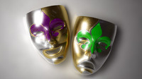 comedy mardi gras masks 3d model