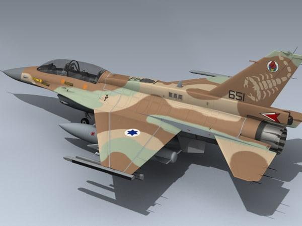 3d israeli idf f-16d