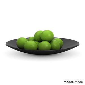 3dsmax limes black bowl