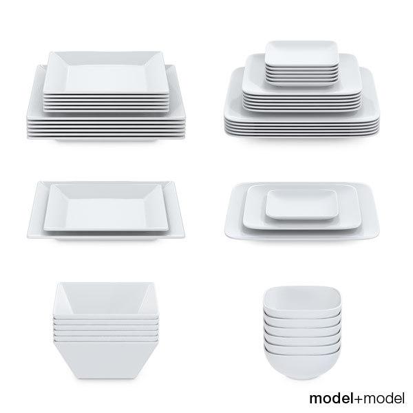 3d plates square sets