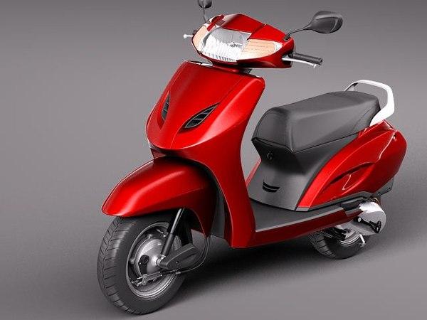 3d honda activa 2012 scooter