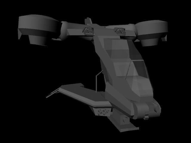 free halo 3 hornet 3d model