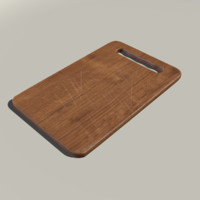 cutting board 3d obj