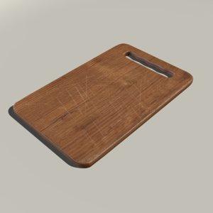 cutting board 3d obj