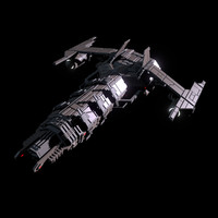 SciFi Missile Cruiser Spaceship
