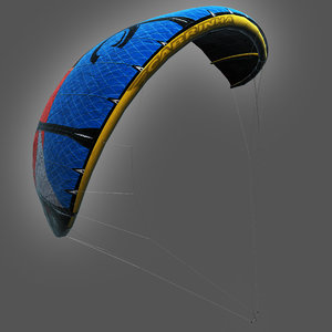 3d cabrinha kite rigged model
