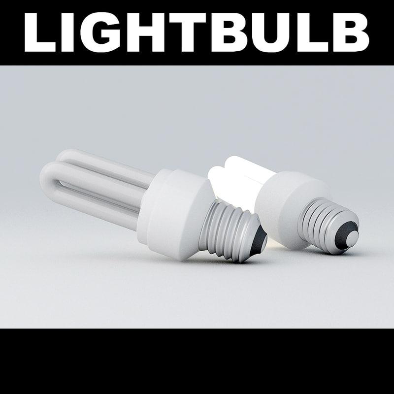 3d lightbulb light bulb model