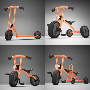 3d model of winther circleline bicycle scooter
