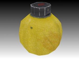 free lemon grenade 3d model