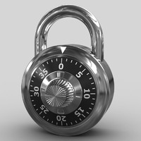 3ds max combination padlock