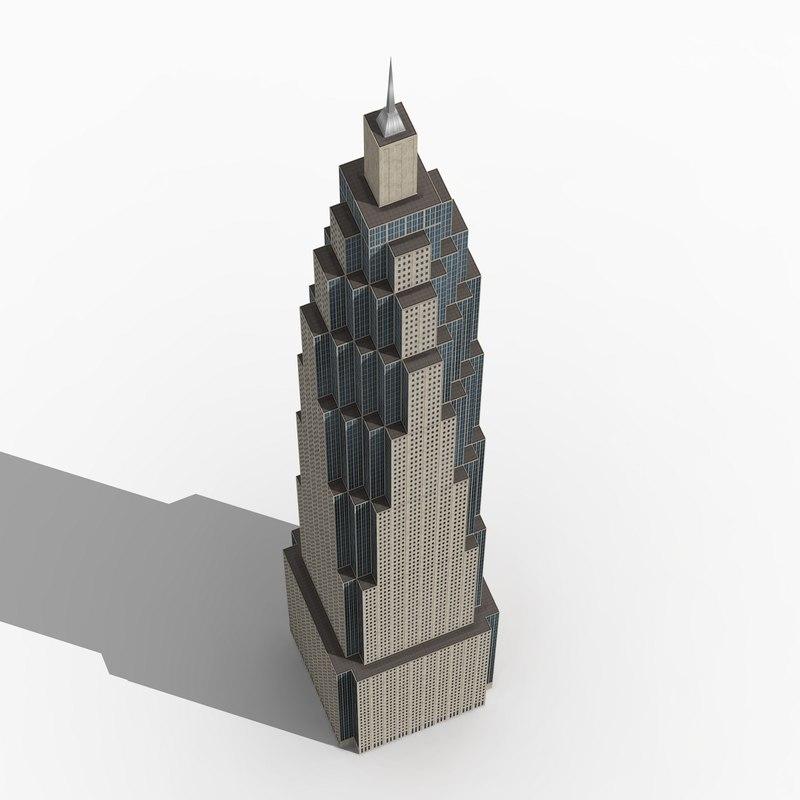 3ds skyscraper wolkenkratzers