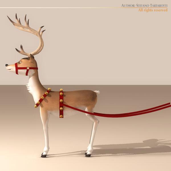 reindeer character 3d model