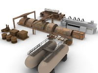 Low Poly Industrial units 2