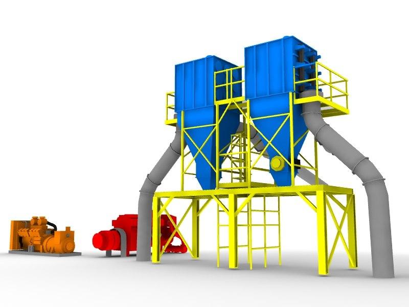 3d industrial farming generators