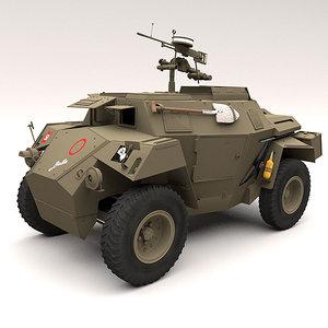 3d model humber scout car