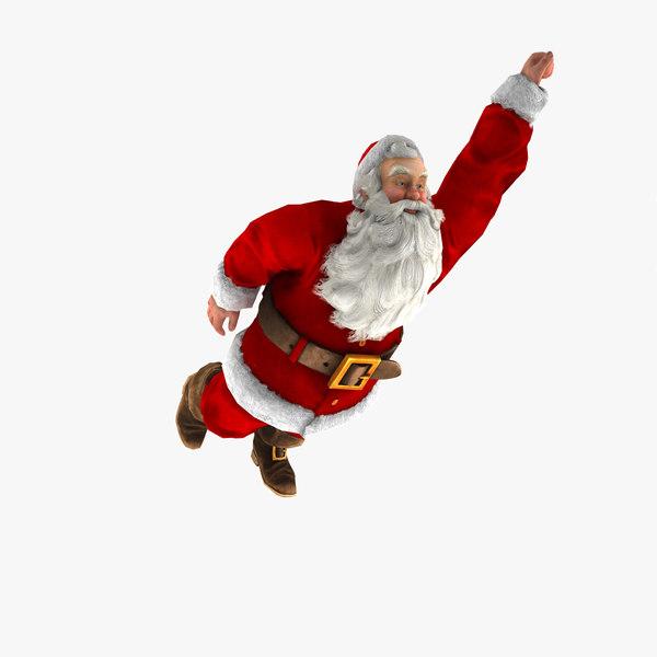 rigged santa 3d max