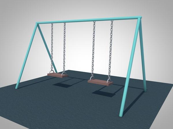 3d swing playground animation