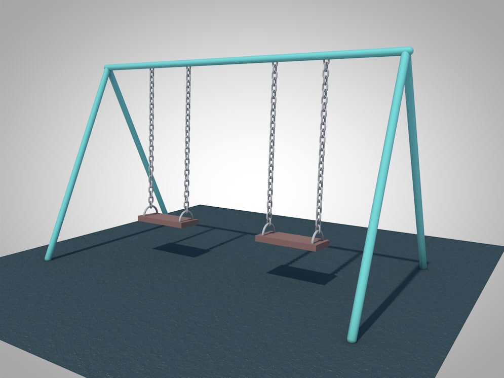 3d swing playground animation