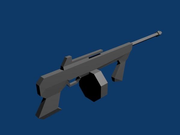 free tommy gun 3d model