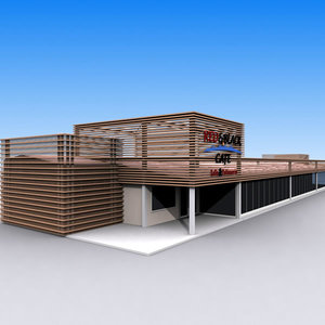 cafe restaurant 3d max