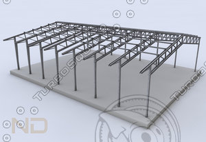 building steel 3d 3ds