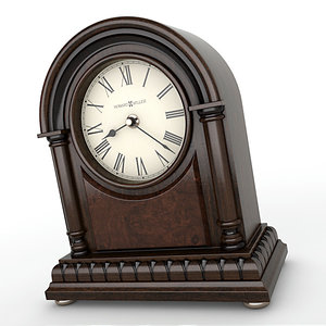3d analog mantel clock
