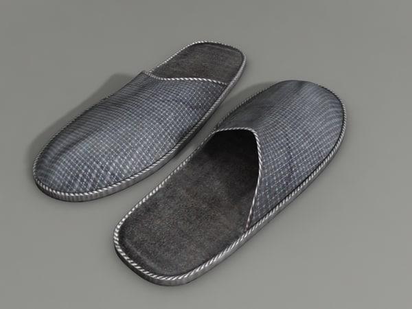 3d model indoor slippers
