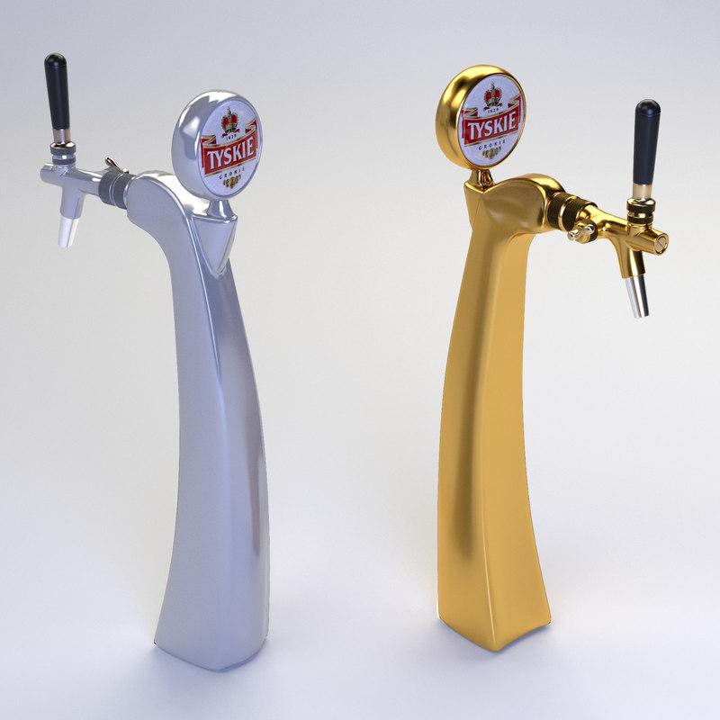 3d beer tower model