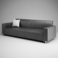 graphite sofa 12 3d model