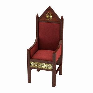 throne chair 3d model