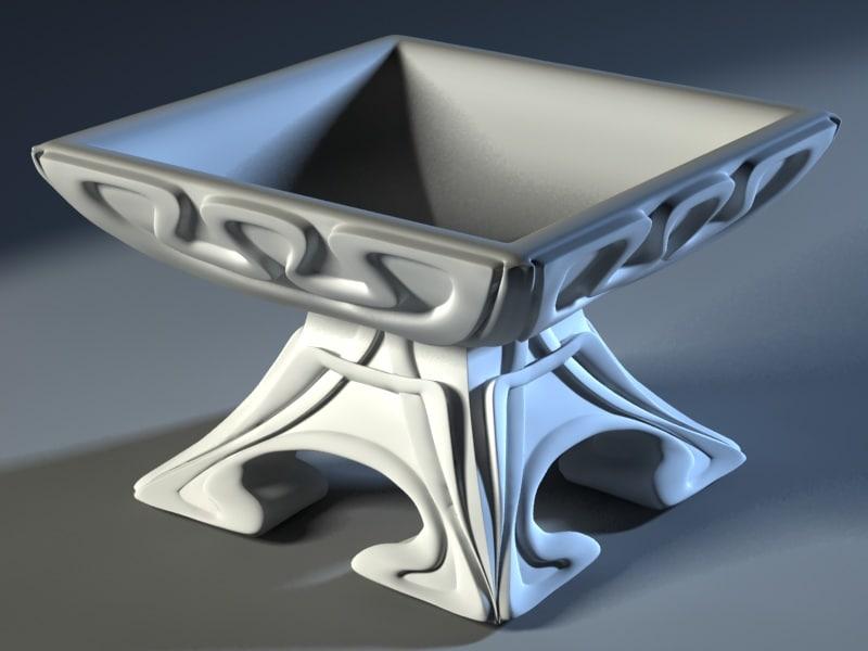modern vase 3d model