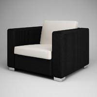 3d model armchair 22