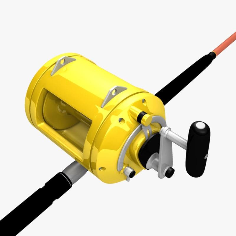3d big fishing rod reel