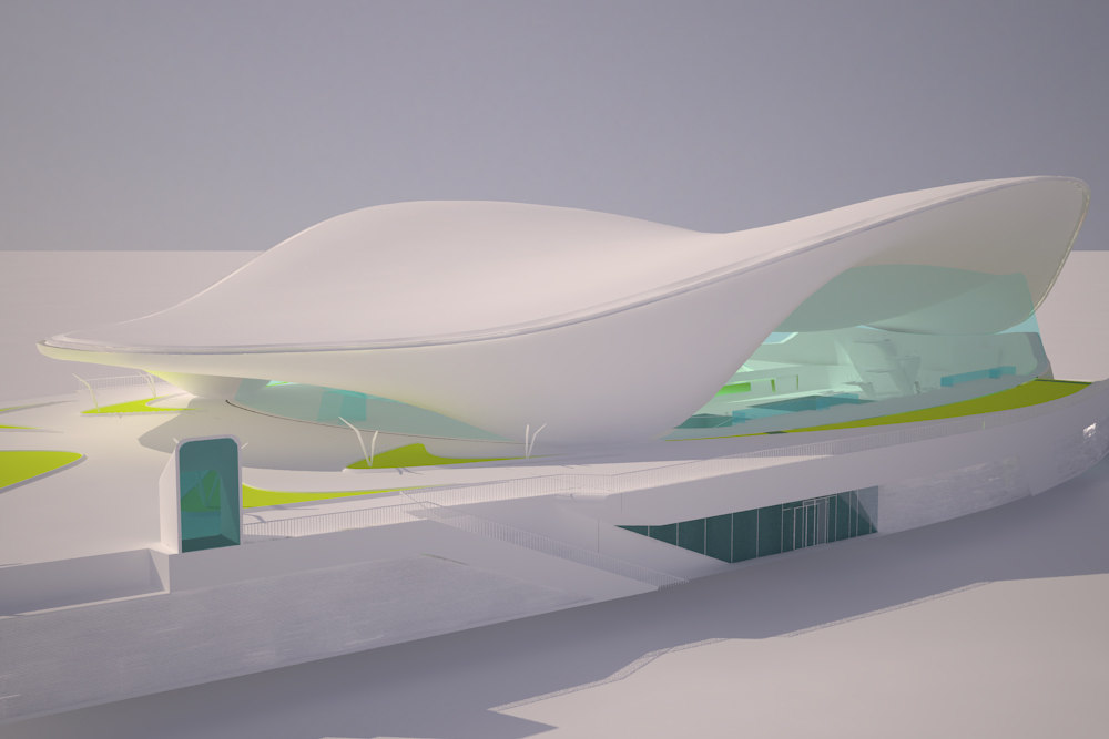 3d model of aquatics centre olympics