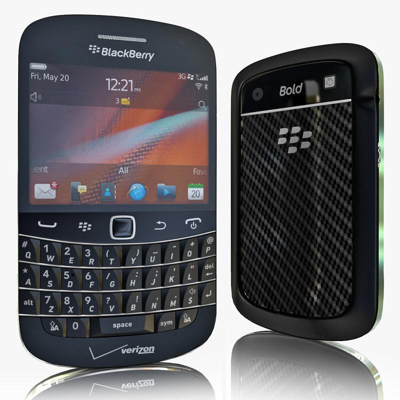 realistic blackberry bold 9930 3d model