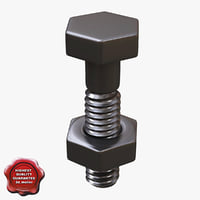 3d bolt modelled model