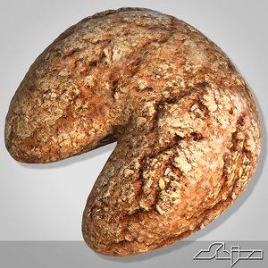 3d bread modeled model